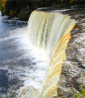 The Tahquamenon Falls are special in many ways. One little known fact is that it is the second largest waterfall east of the Mississippi, with Niagara being the largest.